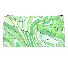 Retro Abstract Green Pencil Cases