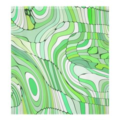 Retro Abstract Green Shower Curtain 66  X 72  (large)