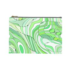 Retro Abstract Green Cosmetic Bag (Large)