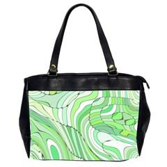 Retro Abstract Green Office Handbags (2 Sides)