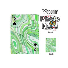 Retro Abstract Green Playing Cards 54 (mini)