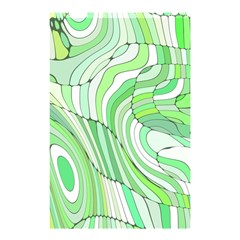 Retro Abstract Green Shower Curtain 48  x 72  (Small)