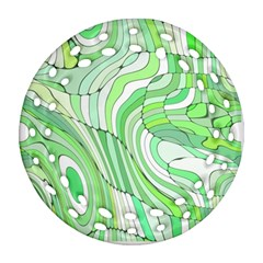 Retro Abstract Green Ornament (Round Filigree)