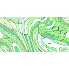 Retro Abstract Green YOU ARE INVITED 3D Greeting Card (8x4)