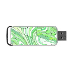 Retro Abstract Green Portable Usb Flash (one Side)