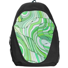 Retro Abstract Green Backpack Bag