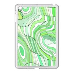 Retro Abstract Green Apple iPad Mini Case (White)