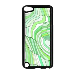 Retro Abstract Green Apple iPod Touch 5 Case (Black)
