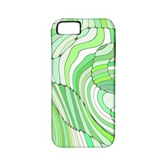 Retro Abstract Green Apple iPhone 5 Classic Hardshell Case (PC+Silicone)