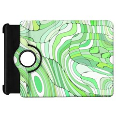 Retro Abstract Green Kindle Fire HD Flip 360 Case