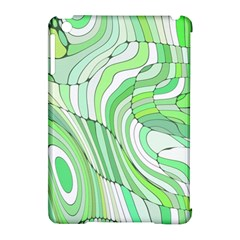 Retro Abstract Green Apple iPad Mini Hardshell Case (Compatible with Smart Cover)