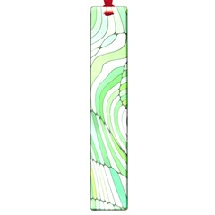 Retro Abstract Green Large Book Marks