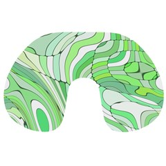 Retro Abstract Green Travel Neck Pillows