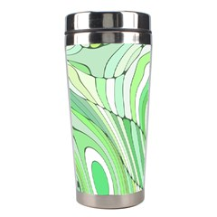 Retro Abstract Green Stainless Steel Travel Tumblers