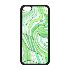 Retro Abstract Green Apple iPhone 5C Seamless Case (Black)