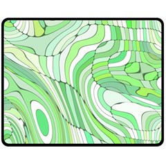 Retro Abstract Green Double Sided Fleece Blanket (medium)