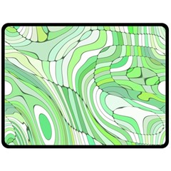 Retro Abstract Green Double Sided Fleece Blanket (large)