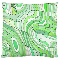 Retro Abstract Green Standard Flano Cushion Cases (One Side)