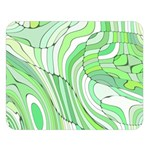 Retro Abstract Green Double Sided Flano Blanket (Large)  80 x60 Blanket Front