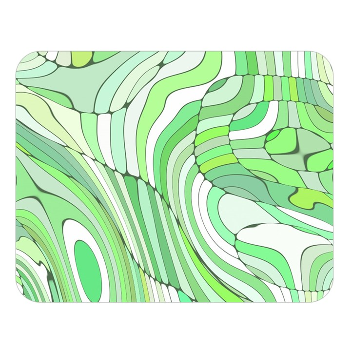 Retro Abstract Green Double Sided Flano Blanket (Large)