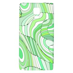 Retro Abstract Green Galaxy Note 4 Back Case