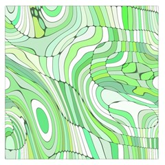 Retro Abstract Green Large Satin Scarf (Square)
