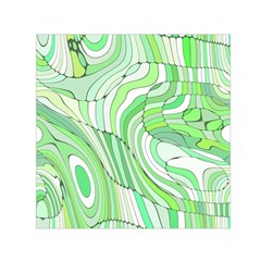 Retro Abstract Green Small Satin Scarf (square)