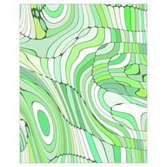 Retro Abstract Green Drawstring Bag (Small)