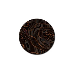 Retro Abstract Orange Black Golf Ball Marker (4 pack)