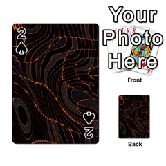 Retro Abstract Orange Black Playing Cards 54 Designs