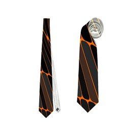 Retro Abstract Orange Black Neckties (one Side)