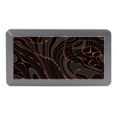 Retro Abstract Orange Black Memory Card Reader (mini)