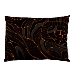 Retro Abstract Orange Black Pillow Cases (two Sides)