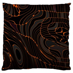 Retro Abstract Orange Black Large Cushion Cases (Two Sides)