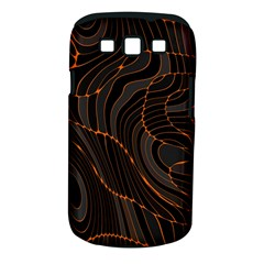 Retro Abstract Orange Black Samsung Galaxy S III Classic Hardshell Case (PC+Silicone)