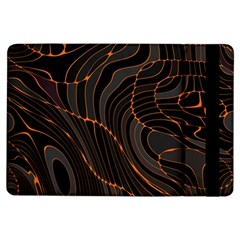 Retro Abstract Orange Black iPad Air Flip