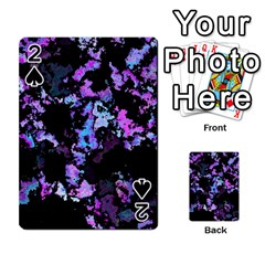 Splatter Blue Pink Playing Cards 54 Designs