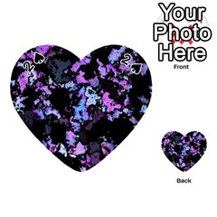 Splatter Blue Pink Playing Cards 54 (Heart)