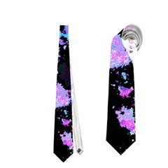 Splatter Blue Pink Neckties (One Side)