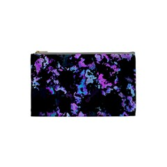 Splatter Blue Pink Cosmetic Bag (Small)
