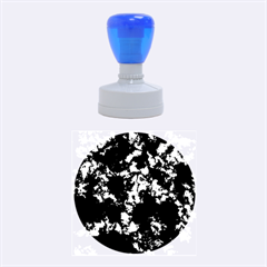 Splatter Blue Pink Rubber Round Stamps (Medium)