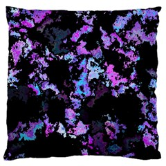 Splatter Blue Pink Large Cushion Cases (One Side)