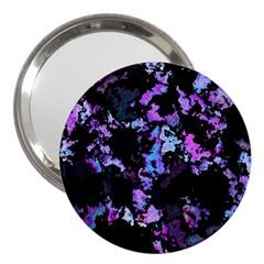 Splatter Blue Pink 3  Handbag Mirrors