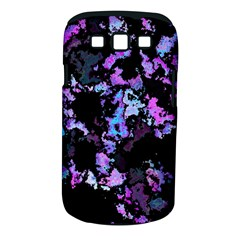 Splatter Blue Pink Samsung Galaxy S III Classic Hardshell Case (PC+Silicone)