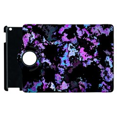 Splatter Blue Pink Apple iPad 3/4 Flip 360 Case