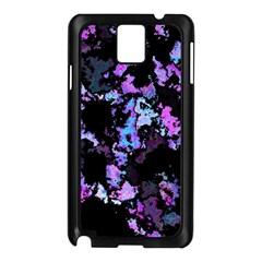 Splatter Blue Pink Samsung Galaxy Note 3 N9005 Case (Black)
