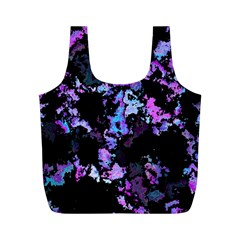 Splatter Blue Pink Full Print Recycle Bags (M)