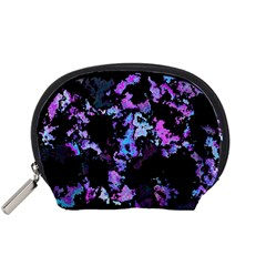 Splatter Blue Pink Accessory Pouches (Small)