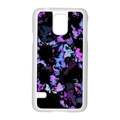 Splatter Blue Pink Samsung Galaxy S5 Case (White)