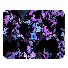 Splatter Blue Pink Double Sided Flano Blanket (Large)